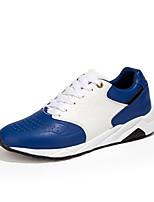 Черный / Синий / Красный-Мужской-На каждый день-Полиуретан-На плоской подошве-Удобная обувь-Кеды