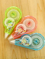Students School Supplies Cute Chocolate Bear Correction Tape 12 Meters (Random Color)