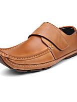 Men's Flats Spring / Fall Moccasin Casual Flat Heel Others Brown / Yellow / Burgundy Others