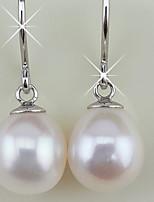 Stering Silver Pearl Drop Earrings Fine Jewelry