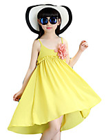 Girl's Casual/Daily Solid DressPolyester Summer Pink / Yellow