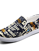 Men's Shoes Casual Canvas Fashion Sneakers Blue / Grey/ Red