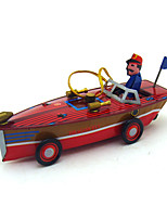 The boat Wind-up Toy Leisure Hobby Metal Red  Green For Kids