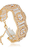 Tennis Bracelets 1pc,Fashionable Circle Golden / Silver Alloy Jewelry Gifts