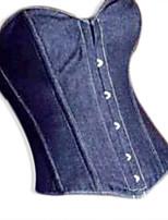 mezclilla azul debajo del busto del corsé azul de corsé corsés de cintura cremallera frontal y otra ropa para tapa atractiva ramillete de