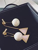 Earring Circle Drop Earrings Jewelry Women Fashion Daily / Casual Alloy 1pc Gold / Silver