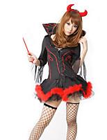 Costumes Zombie / Vampire / Ange et Diable Halloween / Noël / Carnaval / Nouvel an Rouge / Noir Vintage Térylène Robe