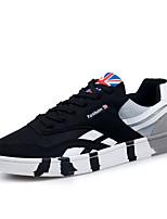 Черный / Синий / Серый-Мужской-На каждый день-Тюль-На плоской подошве-Удобная обувь-Кеды