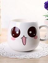 taza Taza de la cara linda de la historieta taza de cerámica de la leche (color al azar)