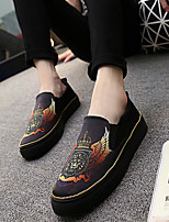 Men's Loafers & Slip-Ons Summer Round Toe / Flats Canvas Casual Flat Heel Others Black / Yellow / Red Others