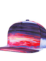 Fashion Women Men Street Dance Colorful Clouds Print Adjustable Patchwork 3D Baseball Cap