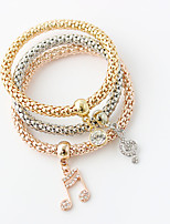 Wrap Bracelets 1set,Double-layer / Fashionable Round Golden Alloy Jewelry Gifts