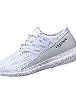Men's Sneakers Spring / Fall Pointed Toe / Styles Fabric Outdoor / Athletic Flat Heel Lace-up Black / White / Gray Sneaker