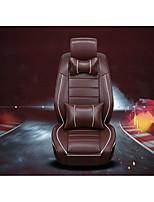 moda danipi 3D Car Auto Suprimentos quatro luxo estofos de couro do carro almofada de bambu carvão