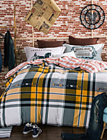 Plaid 800TC bedding sets Queen King size Bedlinen printing sheets pillowcases Duvet cover sanding Cotton Fabric