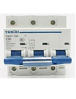 высокое качество воздуха переключатель миниатюрный автоматический выключатель (модель: 3p dz47-100, выключатель номинальный ток: 100a)