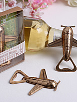 Acrylic Stainless Steel Bottle Aircraft Shaped Favor-1Piece/Set Bottle Openers Classic Theme  Gold