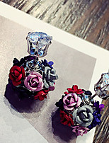 Серьга В форме цветка Бижутерия 1 пара Мода Повседневные Сплав Женский Разные цвета / Черный / Белый