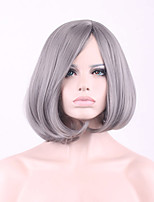 The New  Cos Wig Bobo Wig 12 Inch Silver Hair