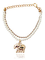 Chain Bracelets 1pc,Fashionable Animal Shape Golden / White Alloy / Imitation Pearl Jewelry Gifts