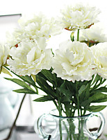 1PC Household Artificial Flowers Sitting Room Adornment  Flowers  Polyester  Peonies Artificial Flowers