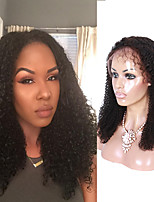 Peruvian Virgin Human Hair Wigs Kinky Curly Lace Front Human Hair Wigs For Black Women Free Part Lace Wigs