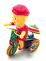 Stress Relievers  Pretend Play  Puzzle Toy  Wind-up Toy Novelty Toy  Bicycle  Robot Metal Yellow For Kids