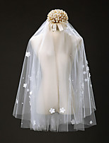 Wedding Veil One-tier Elbow Veils Cut Edge Tulle Ivory