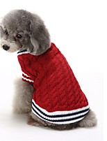 2016 New Autumn and Winter Christmas Sweety Christmas Solid Color Blue Red Dog Sweater Dog Clothes for Pet Dogs