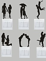AYA™ Set of 6 DIY Creative Sweet Couple Switch Stickers Wall Decor