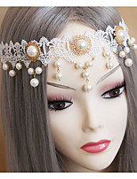 Women's Lace / Imitation Pearl Headpiece-Wedding Headbands 1 Piece