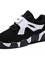 Men's Flats Spring / Fall Round Toe PU Athletic / Casual Flat Heel Others / Lace-up Black / Black and White Others