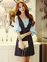 Women's Going out / Work / Holiday Cute / Street chic / Sophisticated A Line Dress,Striped Boat Neck Above Knee