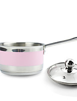 Stainless Steel Small Pot with Cover/ Pink milk pan/Milk pan butter warmer