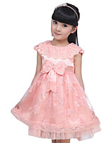 Girl's Casual/Daily Solid Dress,Others Summer Pink / Purple