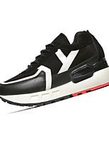 Da donna-Sneakers-Tempo libero / Casual-Punta arrotondata-Piatto-PU (Poliuretano)-Nero / Grigio
