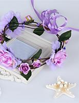 Damen Stoff Kopfschmuck-Hochzeit Kränze 1 Stück Purpur / Blau / Rosa / Weiß Blume 52CM