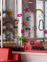 Window Film Window Decals Style Sunshine Beach Matte PVC Window Film - (60 x 58)cm