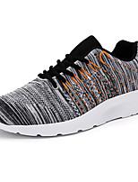 Синий / Серый-Мужской-Для прогулок / На каждый день / Для занятий спортом-Деним-На плоской подошве-Удобная обувь-Кеды
