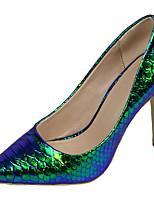 Mujer-Tacón Stiletto-Tacones / Puntiagudos-Tacones-Vestido / Casual / Fiesta y Noche-PU-Azul