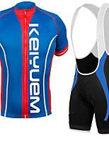 KEIYUEM Vélo/Cyclisme Ensemble de Vêtements/Tenus Unisexe Manches courtesRespirable / Séchage rapide / Résistant à la poussière /