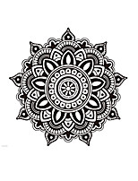 Florals Wall Stickers Mandala Wall Stickers Namaste Wall Stickers Culture Stickers,Vinyl Reglious Decals India Murals