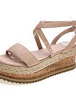Women's Shoes Fabric Summer Heels / Platform / Creepers Sandals Office & Career / Dress