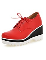Women's Heels Summer / Fall Wedges / Round Toe PU Office & Career / Casual Wedge Heel  Black / Blue / Red Others