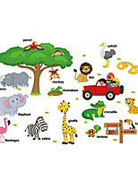 Wall Stickers Wall Decals Style Cartoon AnimalEnglish PVC Wall Stickers
