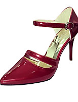 Women's Heels Fall Heels PU Party & Evening Stiletto Heel Buckle Pink / Red / Silver Others