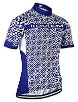 KEIYUEM® Maillot de Ciclismo Unisex Mangas cortas BicicletaTranspirable / Secado rápido / Resistente a los UV / Cremallera delantera /