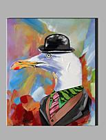 Pintada a mano Abstracto / Animal Pinturas de óleo,Modern / Clásico Un Panel Lienzos Pintura al óleo pintada a colgar For Decoración