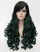 parrucca cosplay, lolita lolita parrucca multi colore gradiente di vento, parrucca quotidiana