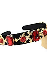 Women's Alloy Headpiece-Wedding Headbands 1 Piece Red Flower / Rectangle